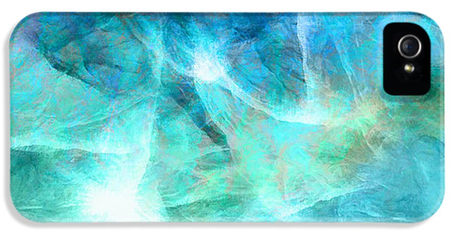 Large Abstract IPhone 5 / 5s Case featuring the painting Life Is A Gift - Abstract Art by Jaison Cianelli