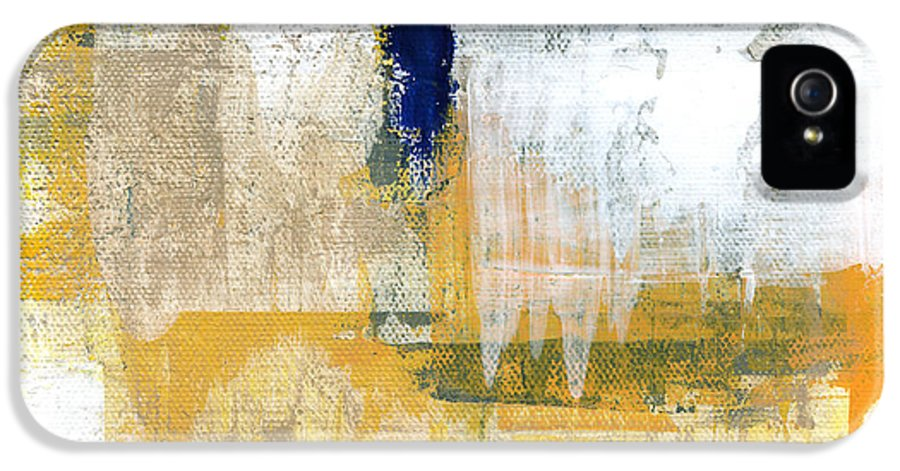 Abstract IPhone 5 / 5s Case featuring the painting Light Of Day 2 by Linda Woods