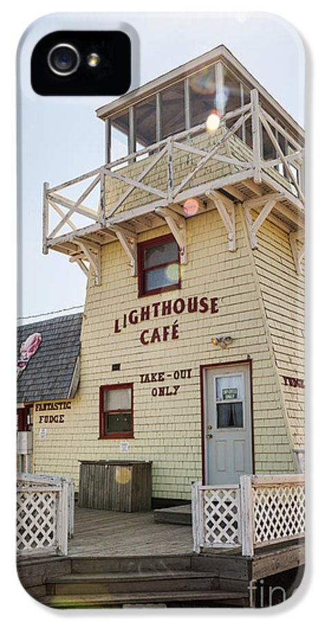 Lighthouse IPhone 5 / 5s Case featuring the photograph Lighthouse Cafe In North Rustico by Elena Elisseeva