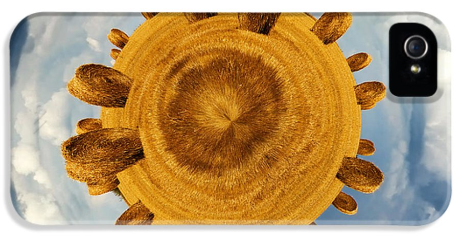 Hay IPhone 5 / 5s Case featuring the photograph Little Planet Hay Bales by Jane Rix