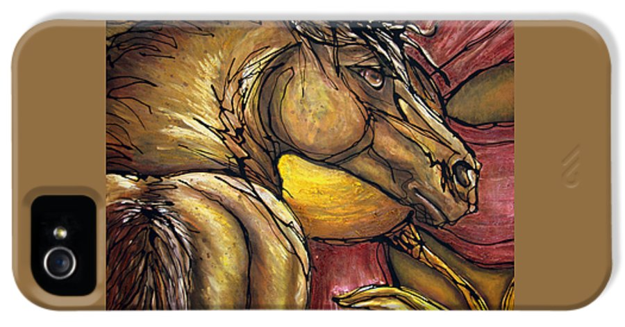 Horse IPhone 5 / 5s Case featuring the painting Live Again by Jonelle T McCoy