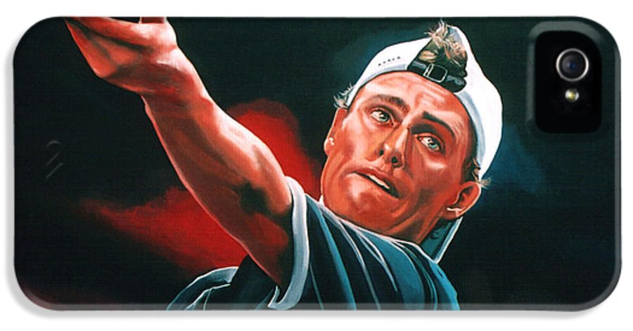 Lleyton Hewitt IPhone 5 / 5s Case featuring the painting Lleyton Hewitt 2 by Paul Meijering