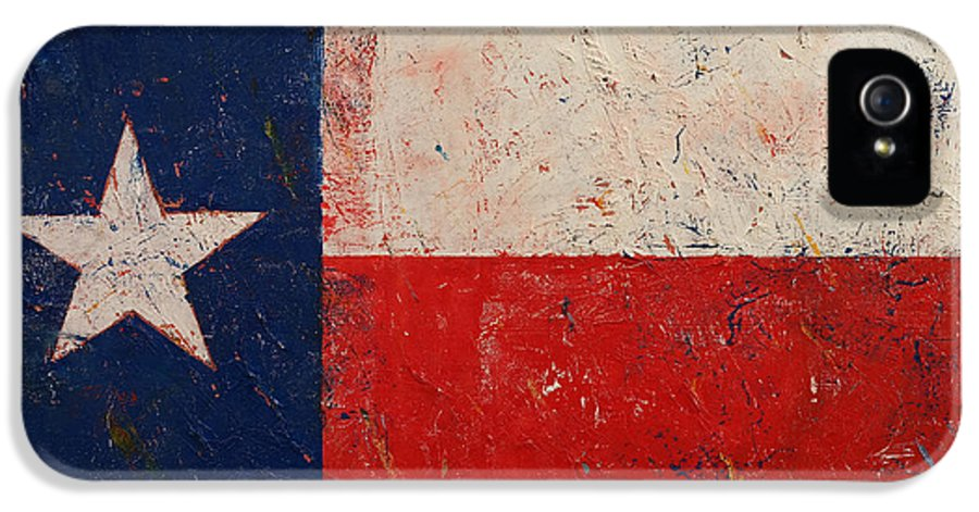 Art IPhone 5 / 5s Case featuring the painting Lone Star by Michael Creese