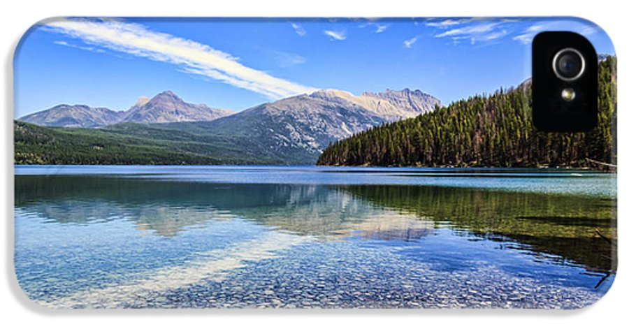 Kintla Lake IPhone 5 / 5s Case featuring the photograph Long Knife Peak At Kintla Lake by Scotts Scapes