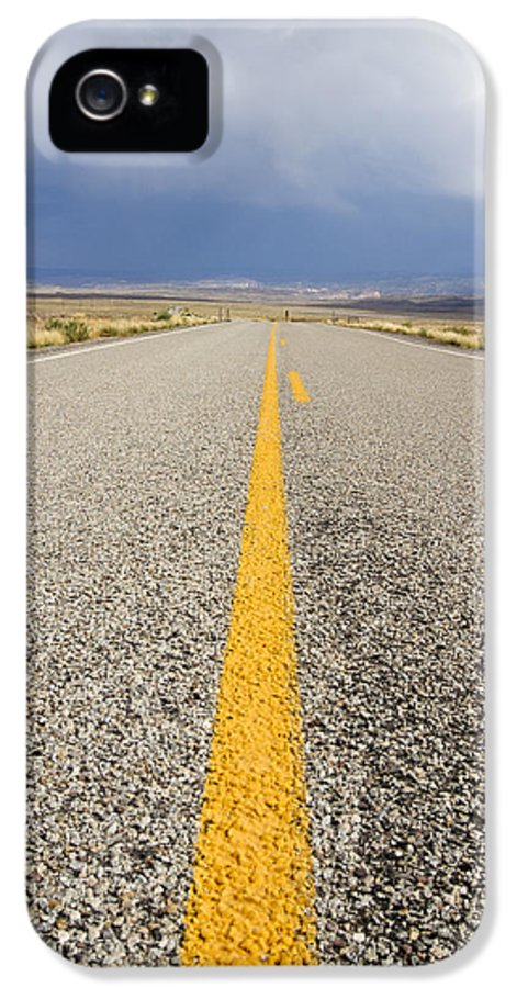 3scape Photos IPhone 5 / 5s Case featuring the photograph Long Lonely Road by Adam Romanowicz