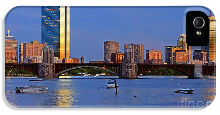 Boston IPhone 5 / 5s Case featuring the photograph Longfellow Bridge by Joann Vitali