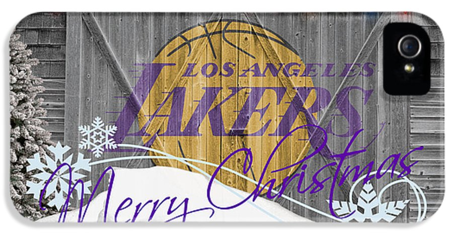 Lakers IPhone 5 / 5s Case featuring the photograph Los Angeles Lakers by Joe Hamilton