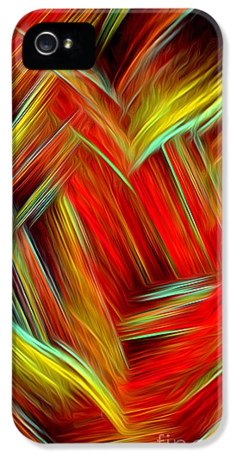 Lost In Thoughts IPhone 5 / 5s Case featuring the digital art Lost In Thoughts - Abstract Digital Painting By Giada Rossi by Giada Rossi