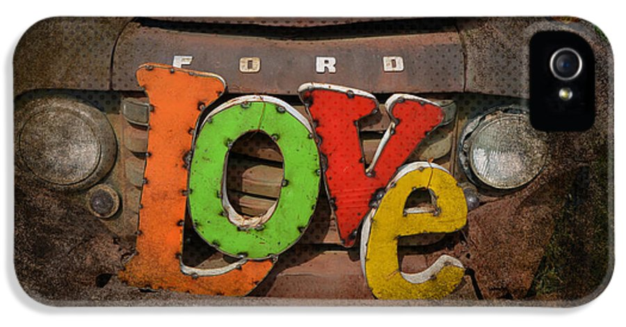 Love IPhone 5 / 5s Case featuring the photograph Love And A Ford Truck by Carla Parris