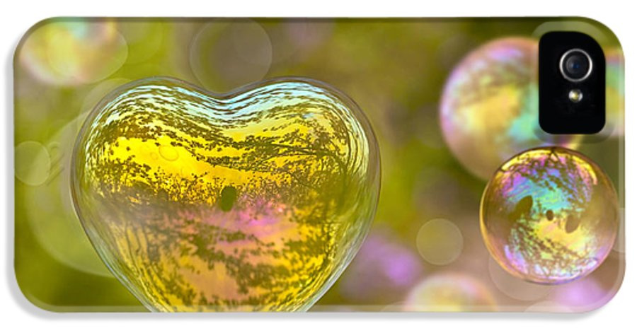 Valentine IPhone 5 / 5s Case featuring the photograph Love Bubble by Delphimages Photo Creations