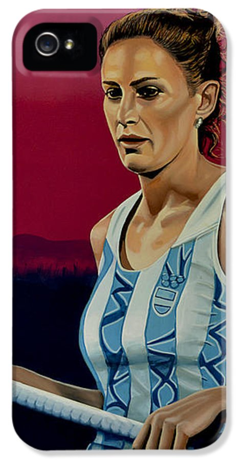 Luciana Aymar IPhone 5 / 5s Case featuring the painting Luciana Aymar by Paul Meijering