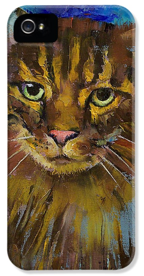 Luna IPhone 5 / 5s Case featuring the painting Luna by Michael Creese