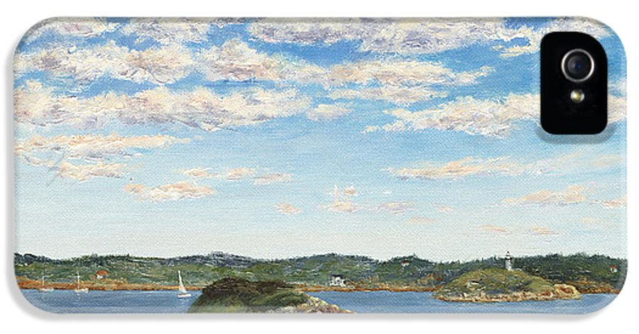 Seascape IPhone 5 / 5s Case featuring the painting Marblehead View by Elaine Farmer