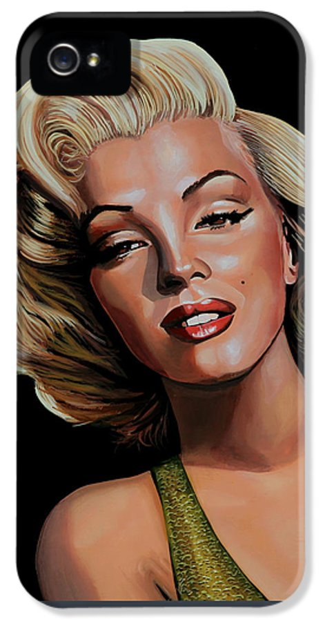 Marilyn Monroe IPhone 5 / 5s Case featuring the painting Marilyn Monroe 2 by Paul Meijering
