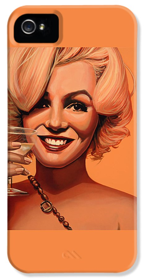 Marilyn Monroe IPhone 5 / 5s Case featuring the painting Marilyn Monroe 5 by Paul Meijering