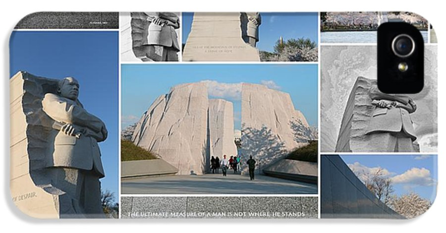 Martin Luther King Memorial IPhone 5 / 5s Case featuring the photograph Martin Luther King Jr Memorial Collage 1 by Allen Beatty