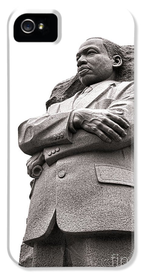 Washington IPhone 5 / 5s Case featuring the photograph Martin Luther King Memorial Statue by Olivier Le Queinec