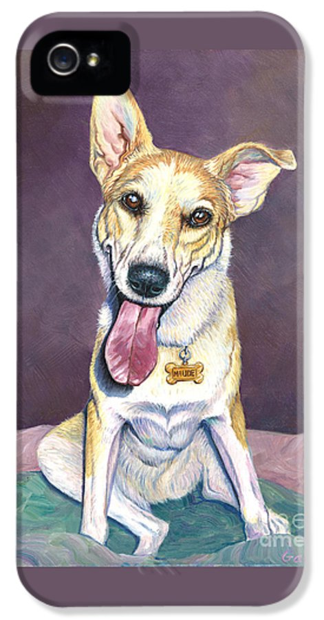Shepherd IPhone 5 / 5s Case featuring the painting Maude by Catherine Garneau