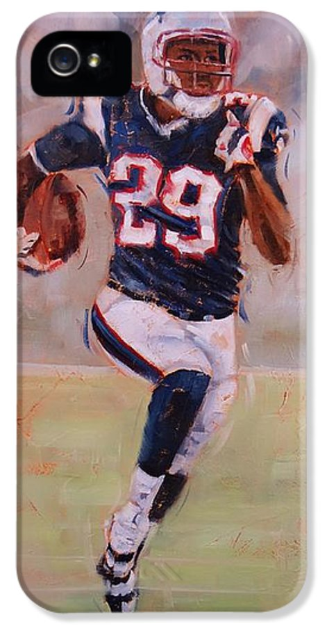 Patriots Player IPhone 5 / 5s Case featuring the painting Maybe Next Year by Laura Lee Zanghetti