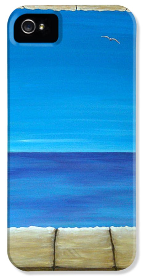 Pamela Allegretto IPhone 5 / 5s Case featuring the painting Meditation by Pamela Allegretto