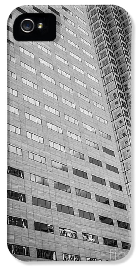 America IPhone 5 / 5s Case featuring the photograph Miami Architecture Detail 1 - Black And White by Ian Monk