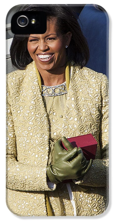 Barack Obama IPhone 5 / 5s Case featuring the photograph Michelle Obama by JP Tripp