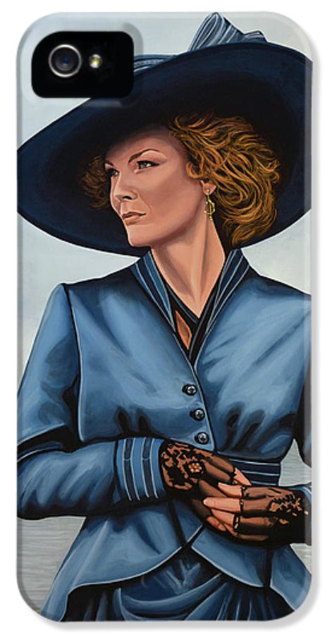 Michelle Pfeiffer IPhone 5 / 5s Case featuring the painting Michelle Pfeiffer by Paul Meijering
