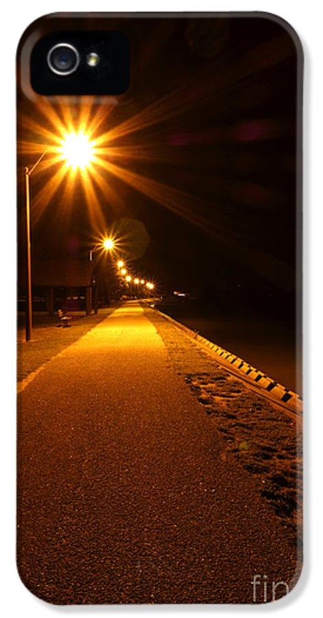 Waterfront IPhone 5 / 5s Case featuring the photograph Midnight Walk by Olivier Le Queinec