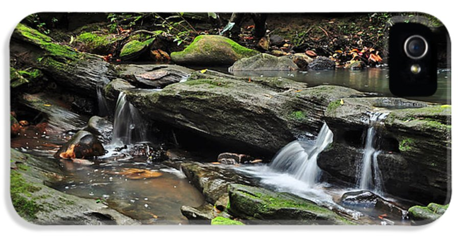 Photography IPhone 5 / 5s Case featuring the photograph Mini Waterfalls by Kaye Menner