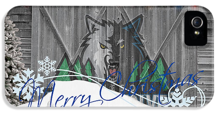 Timberwolves IPhone 5 / 5s Case featuring the photograph Minnesota Timberwolves by Joe Hamilton