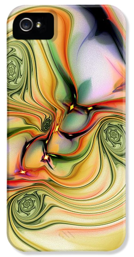 Computer IPhone 5 / 5s Case featuring the digital art Moirai by Anastasiya Malakhova