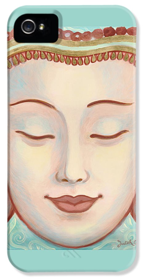 Moments Of Bliss IPhone 5 / 5s Case featuring the painting Moments Of Bliss by Judith Grzimek