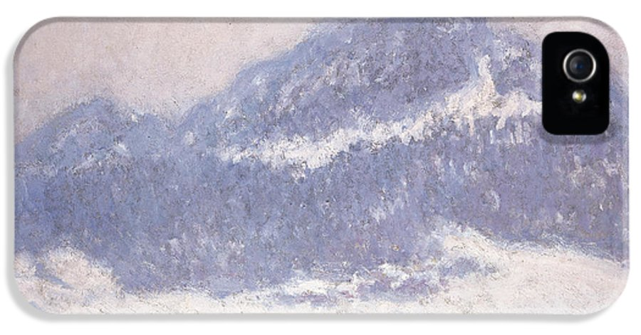 Claude Monet IPhone 5 / 5s Case featuring the painting Mont Kolsaas by Claude Monet