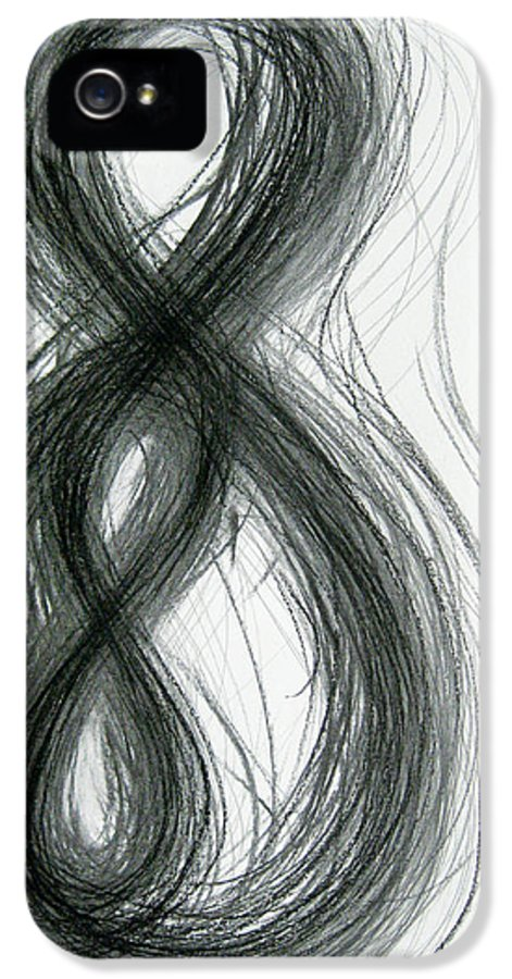 Mother And Child IPhone 5 / 5s Case featuring the drawing Mother And Child Figure-eight Study by Michael Morgan