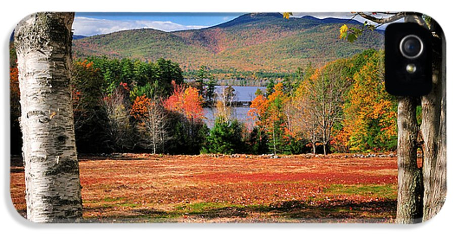 Mount IPhone 5 / 5s Case featuring the photograph Mt Chocorua - A New Hampshire Scenic by Thomas Schoeller