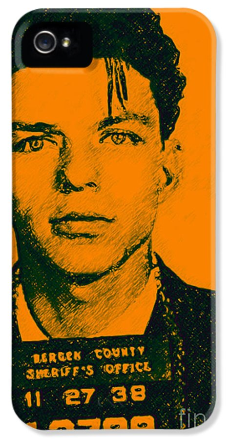 Frank IPhone 5 / 5s Case featuring the photograph Mugshot Frank Sinatra V1 by Wingsdomain Art and Photography