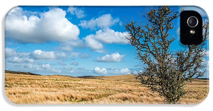 Clouds IPhone 5 / 5s Case featuring the photograph Mynydd Hiraethog by Adrian Evans