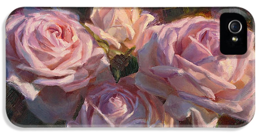 Rose IPhone 5 / 5s Case featuring the painting Nana's Roses by Karen Whitworth