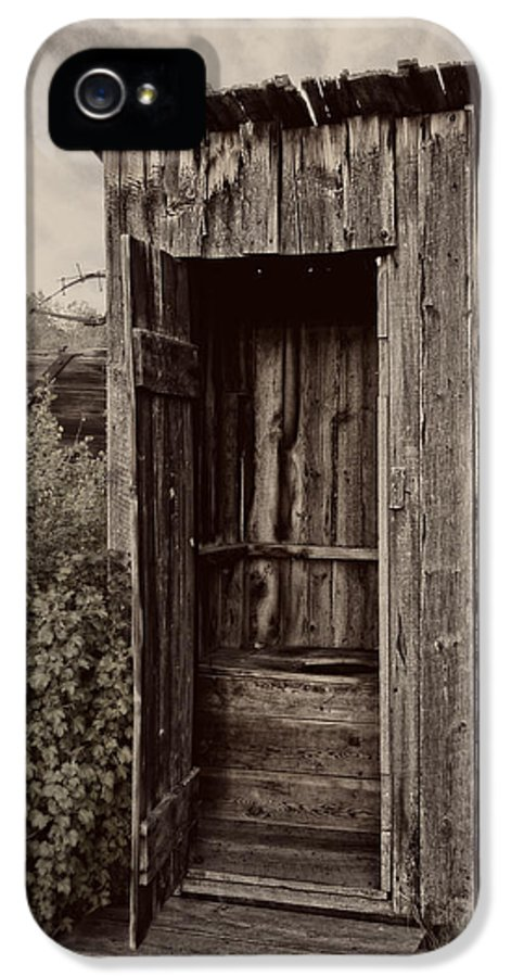 Outhouse IPhone 5 / 5s Case featuring the photograph Nevada City Ghost Town Outhouse - Montana by Daniel Hagerman