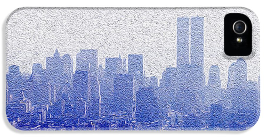 Empire State Building Canvas Prints IPhone 5 / 5s Case featuring the mixed media New York Skyline by Jon Neidert