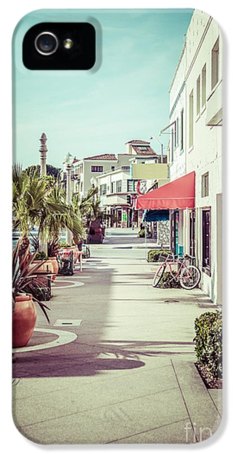 1950s IPhone 5 / 5s Case featuring the photograph Newport Beach Main Street Balboa Peninsula Picture by Paul Velgos