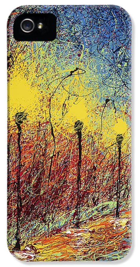 Jackson Pollock IPhone 5 / 5s Case featuring the painting Night In The Park II by Ash Hussein
