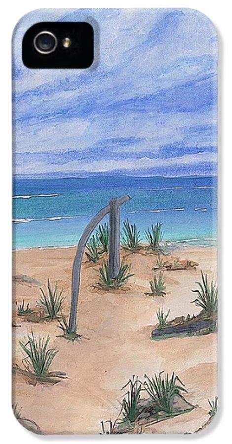 North Beach IPhone 5 / 5s Case featuring the painting North Beach Haida Gwaii Bc by Barbara St Jean