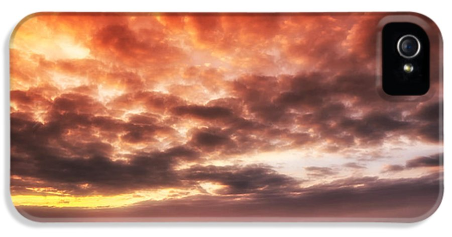 North Sea IPhone 5 / 5s Case featuring the photograph North Sea Sunset by Mountain Dreams