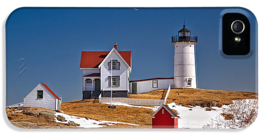 Water IPhone 5 / 5s Case featuring the photograph Nubble Lighthouse 3 by Joann Vitali