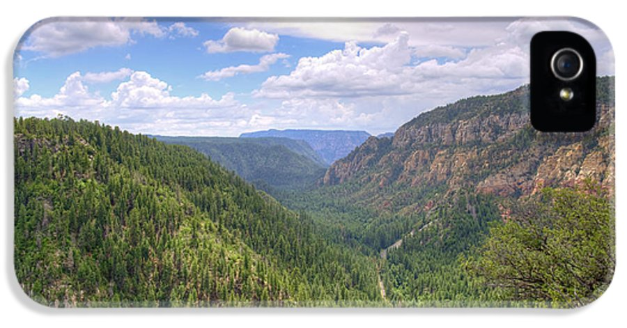Oak IPhone 5 / 5s Case featuring the photograph Oak Creek Canyon by Ricky Barnard
