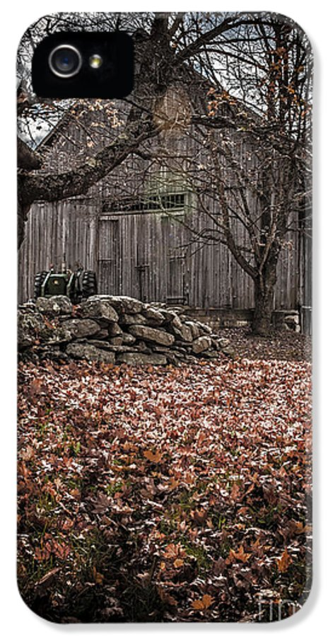 Rural IPhone 5 / 5s Case featuring the photograph Old Barn In Autumn by Edward Fielding