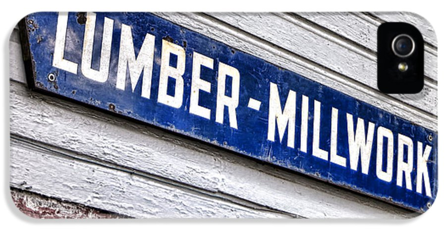 Lumber IPhone 5 / 5s Case featuring the photograph Old Lumberyard Sign by Olivier Le Queinec