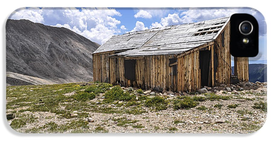 House IPhone 5 / 5s Case featuring the photograph Old Mining House by Aaron Spong