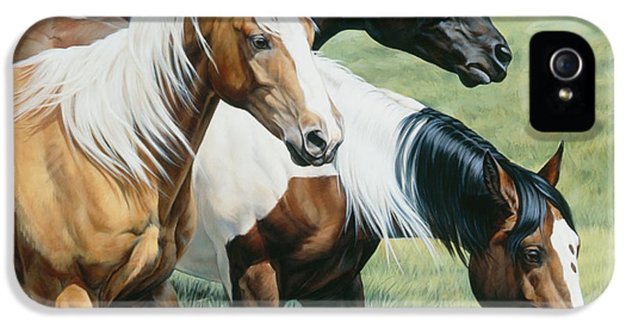 Michelle Grant IPhone 5 / 5s Case featuring the painting On The Move by JQ Licensing